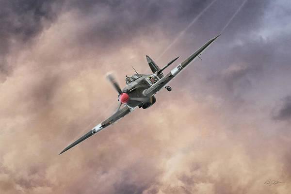 Battle Of Britain Digital Art - Raging Hurricane by Peter Chilelli