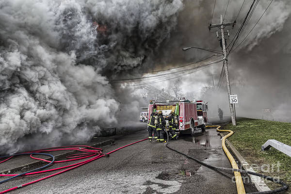 Photograph - Raging Inferno by Jim Lepard