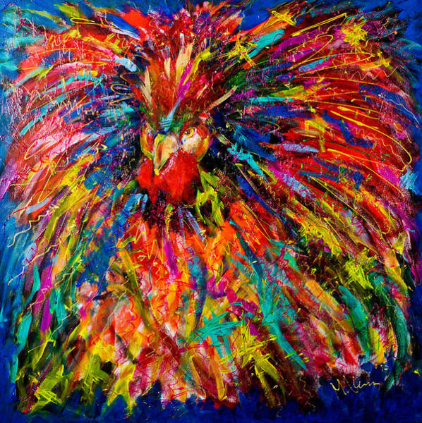Painting - Raging Rooster by Maxim Komissarchik