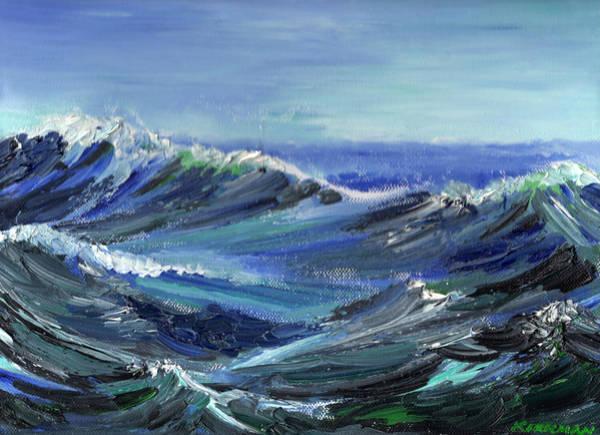 Painting - Raging Seas by Scott Kirkman