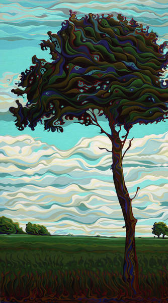 Painting - Raging Sky Po-e-tree by Amy Ferrari