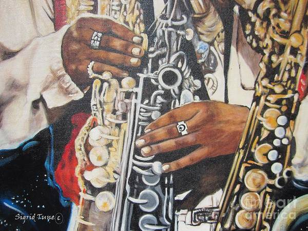 Blaa Kattproduksjoner.      Jazzed  Art Print