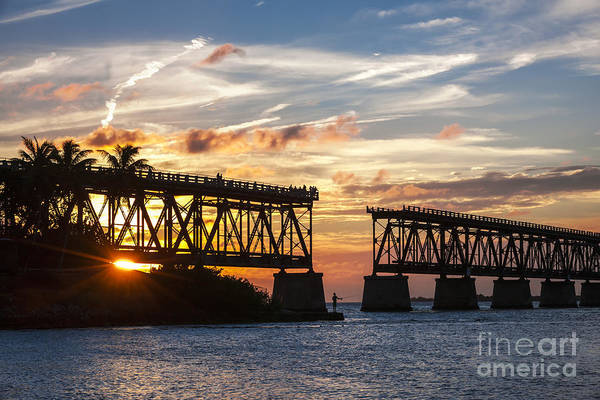 Wall Art - Photograph - Rail Bridge At Florida Keys by Elena Elisseeva