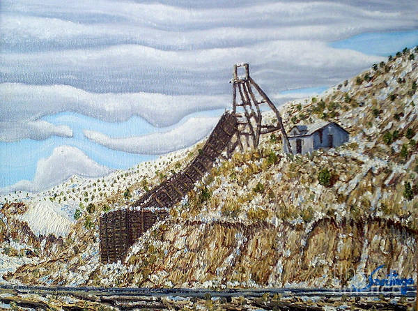Painting - Rail Chute by Santiago Chavez