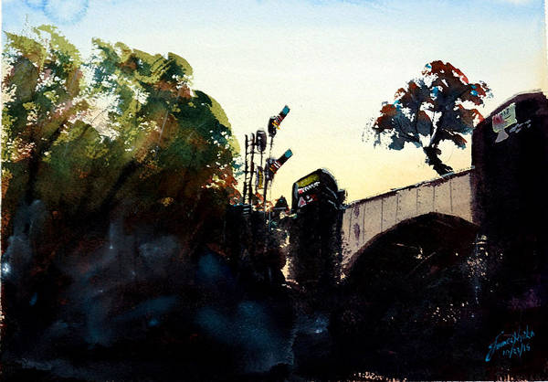 Tunnel Painting - Rail Crossing Bridge by James Nyika