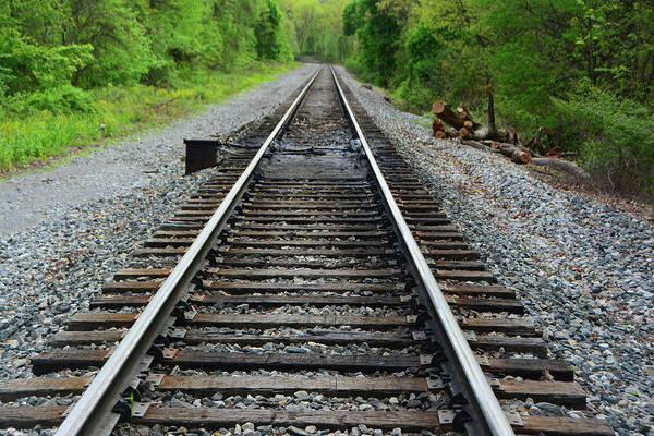 Photograph - Rail Road Crossing Before Mason Dixon State Line by Raymond Salani III