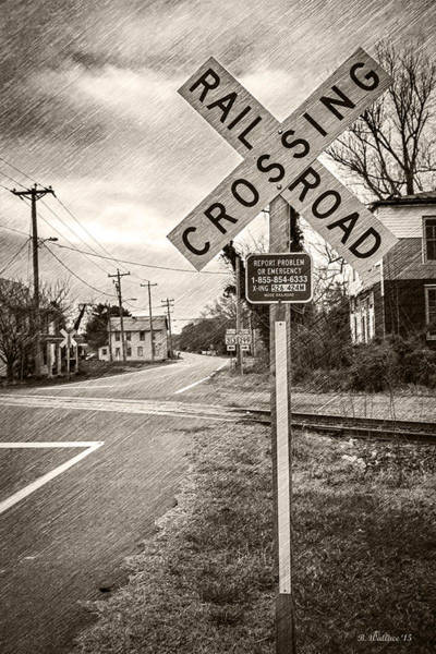 Sfx Photograph - Rail Road Crossing by Brian Wallace