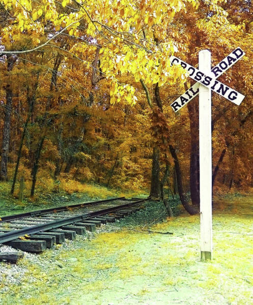 Photograph - Rail Road Crossing To Neverland by Patricia Awapara