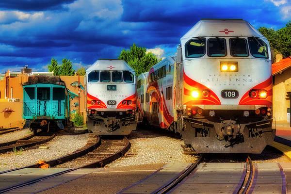 Commuter Rail Wall Art - Photograph - Rail Runner Express by Garry Gay
