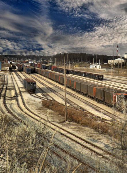 Photograph - Rail Yard 1 by Scott Hovind