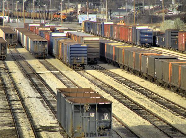 Photograph - Rail Yard 2 by Scott Hovind
