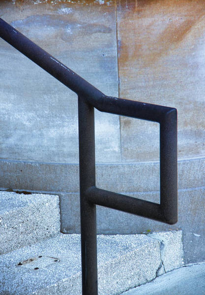 Wall Art - Photograph - Railing And Step Abstract by Richard Rizzo
