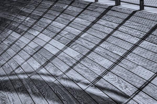 Photograph - Railing Shadows - The Wharf by Stuart Litoff