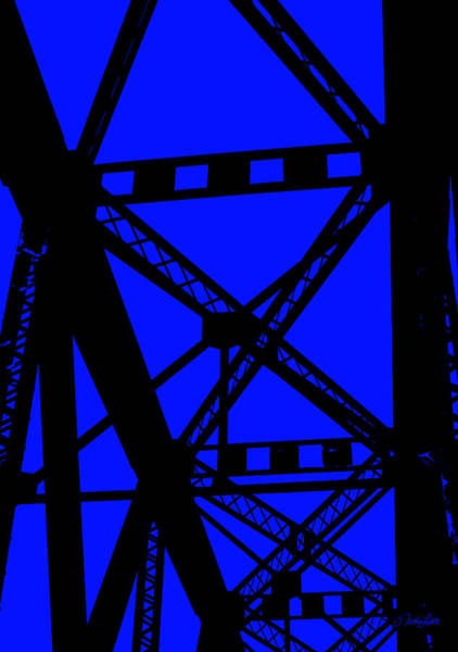 Photograph - Railroad Bridge Beams by Nathan Little