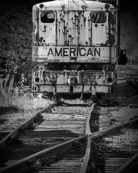 Photograph - Railroad Crane On The Tracks by Randall Nyhof