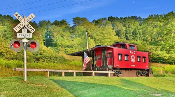 Photograph - Railroad Crossing And Caboose by Lisa Wooten