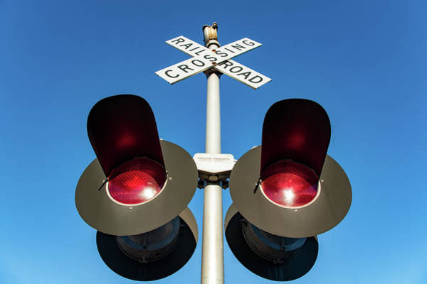 Rail Crossing Photograph - Railroad Crossing Lights by Todd Klassy