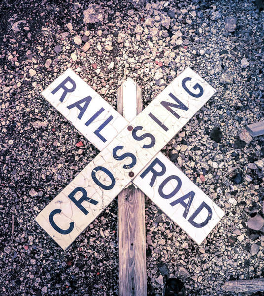 Wall Art - Photograph - Railroad Crossing Sign by Dan Sproul