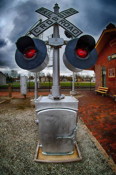 Railroad Crossing Signal Art Print