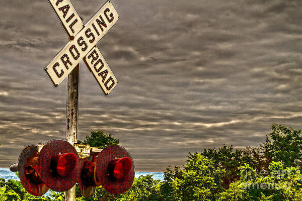 Finger Lakes Railway Photograph - Railroad Crossing by William Norton