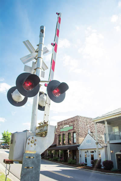 Photograph - Railroad Lights In Old Town Helena by Parker Cunningham
