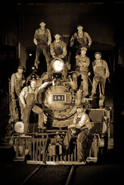 Roundhouse Photograph - Railroad Staff by Patrick  Flynn