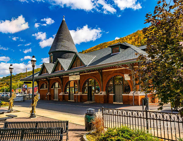 Photograph - Railroad Station In Jim Thorpe by Nick Zelinsky