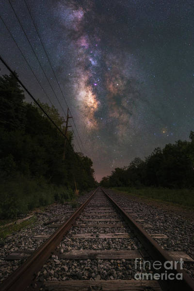 Photograph - Railroad To The Stars  by Michael Ver Sprill