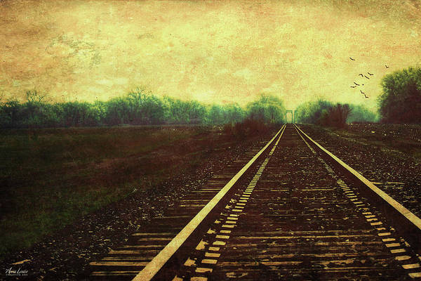 Photograph - Railroad Track Glow by Anna Louise
