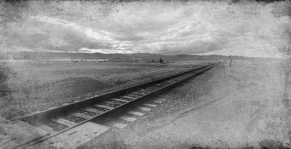 Photograph - Railroad Tracks In Black And White by Angie Tirado