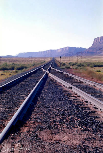 Wall Art - Photograph - Railroad Tracks Into Horizon - Signed Limited Edition by Steve Ohlsen