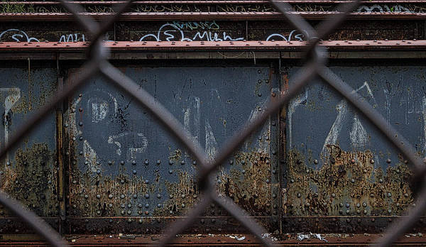 Photograph - Railroad Trestle Rust And Graffiti by Stuart Litoff