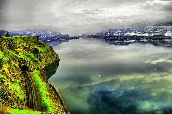 Wall Art - Photograph - Railroad Tunnel Next To The Columbia River by Jeff Swan