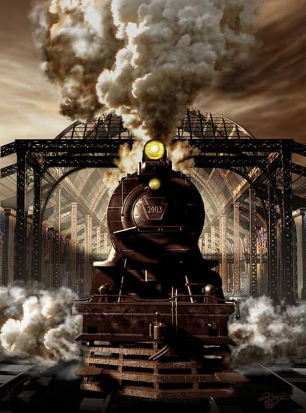 Train Tracks Digital Art - Railroad Tycoon by Kurt Miller