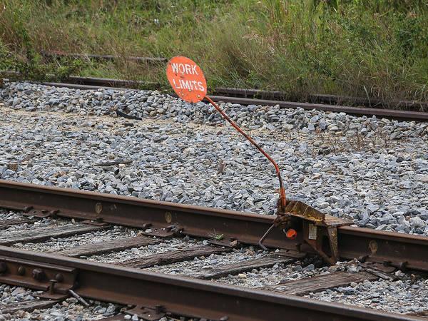 Photograph - Railroad Work Limit by Dart and Suze Humeston