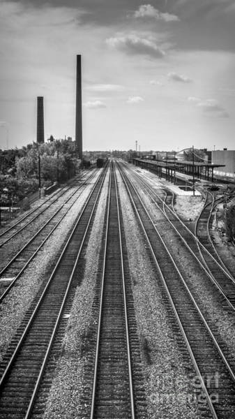 Rails Through Birmingham Art Print