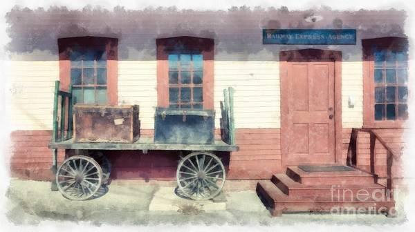 Railway Agency Express Art Print
