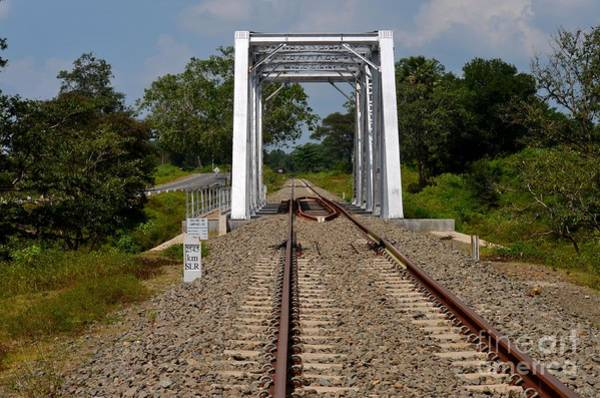 Photograph - Railway Bridge With Rail Tracks Parallel To Highway In Sri Lanka by Imran Ahmed