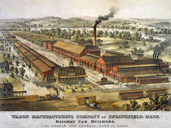 Photograph - Railway Factory C1872 by Granger