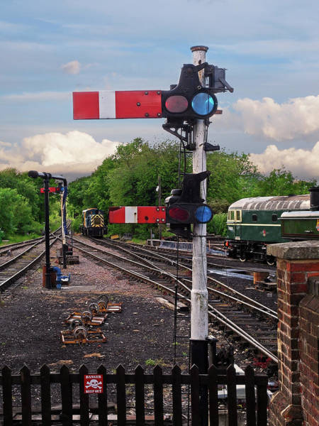 Epping Wall Art - Photograph - Railway Signals by Gill Billington