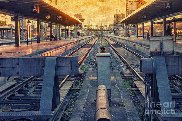 Photograph - Railway Station by Jutta Maria Pusl
