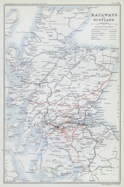 Drawing - Railways Of Scotland by English School