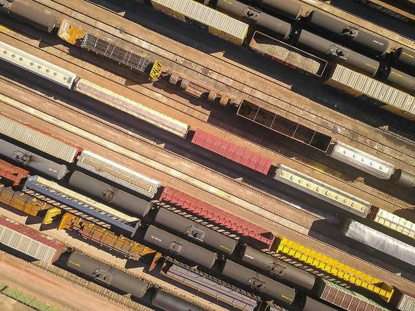 Photograph - Railyard Aerial by Rand