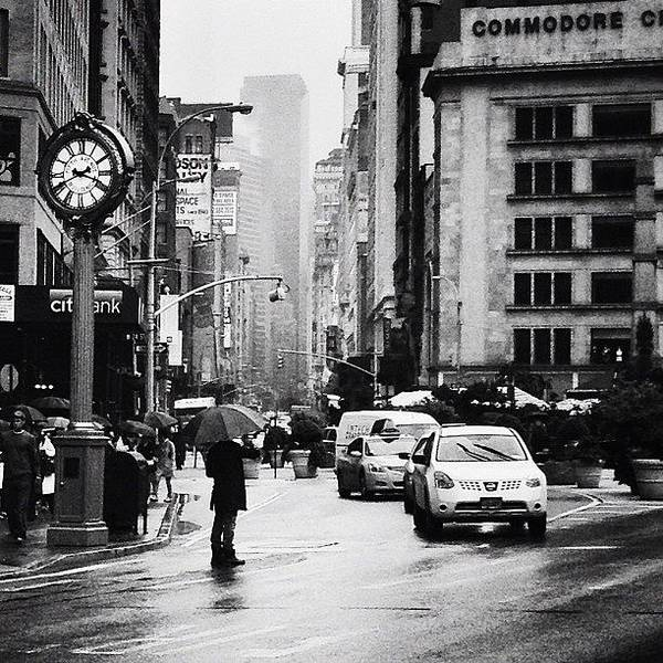 Black And White Photograph - Rain - New York City by Vivienne Gucwa