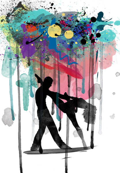 Dance Painting - Rain Again  by Mark Ashkenazi