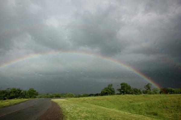 Photograph - Rain And Rainbow by Ericamaxine Price