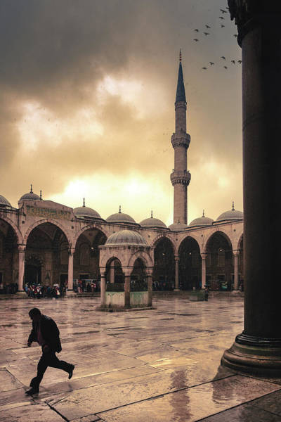 Photograph - Rain At The Blue Mosque by Marji Lang