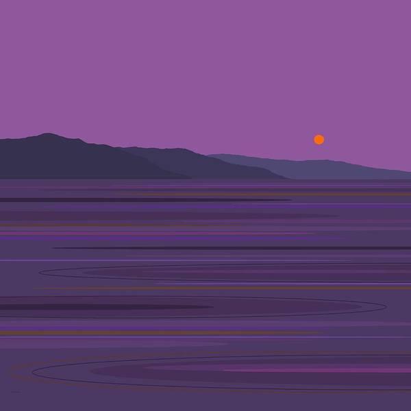Purple Rain Digital Art - Rain At The Lake by Val Arie
