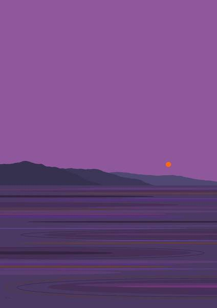 Purple Rain Digital Art - Rain At The Lake Vertical by Val Arie