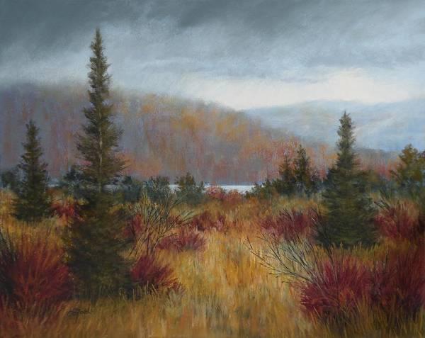 Wall Art - Painting - Rain Before The Snow by Paula Ann Ford